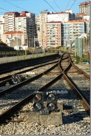 Salida de la estación de Vigo-Urzaiz