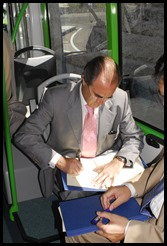 Firma del convenio con Caixa Galicia (2)