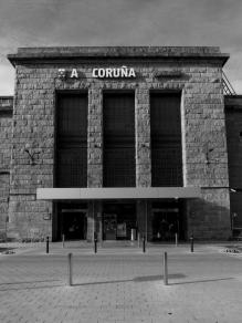 Fachada de la estación de La Coruña